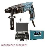 Makita HR2470 Bohrmaschine mit Bohrer und Meißelset,...